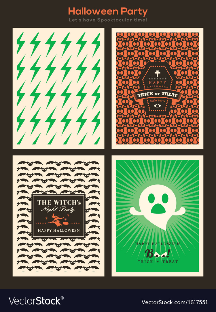 Halloween party background for card poster flyer vector | Price: 1 Credit (USD $1)
