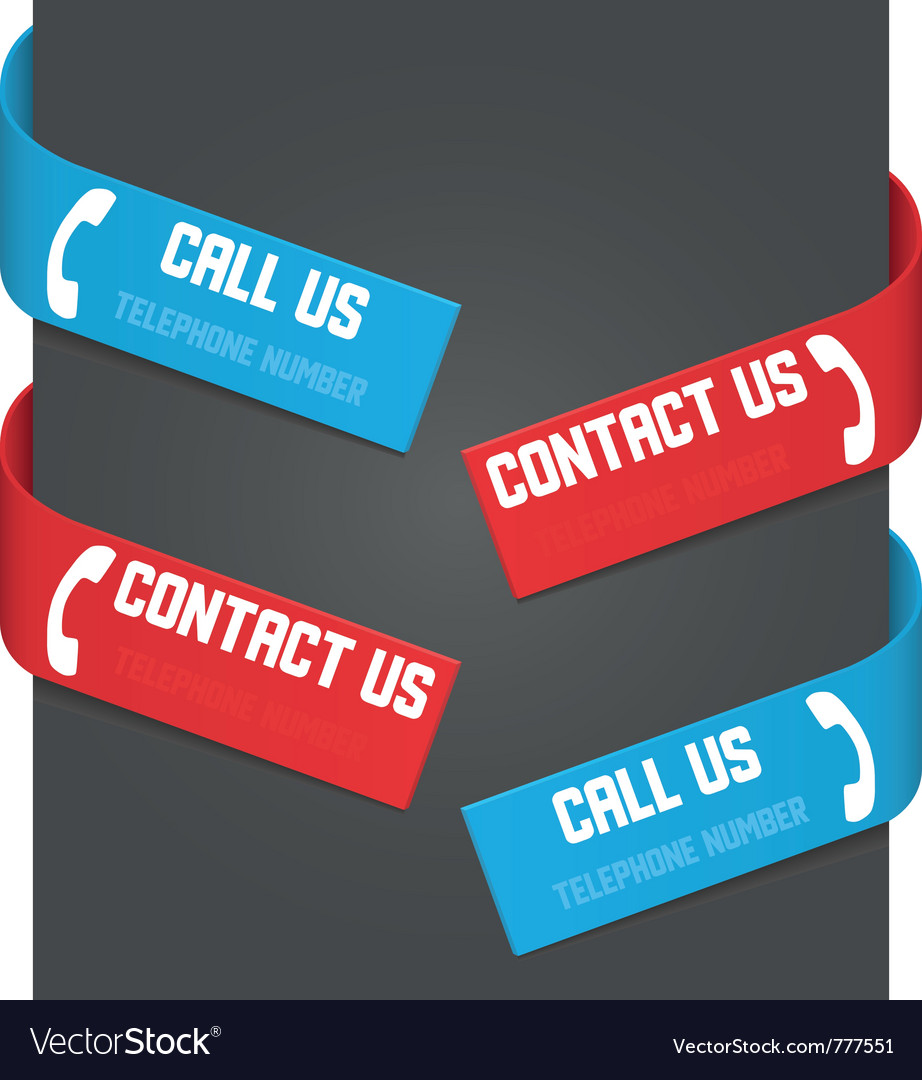 Left and right side signs - call us and contact us vector | Price: 1 Credit (USD $1)
