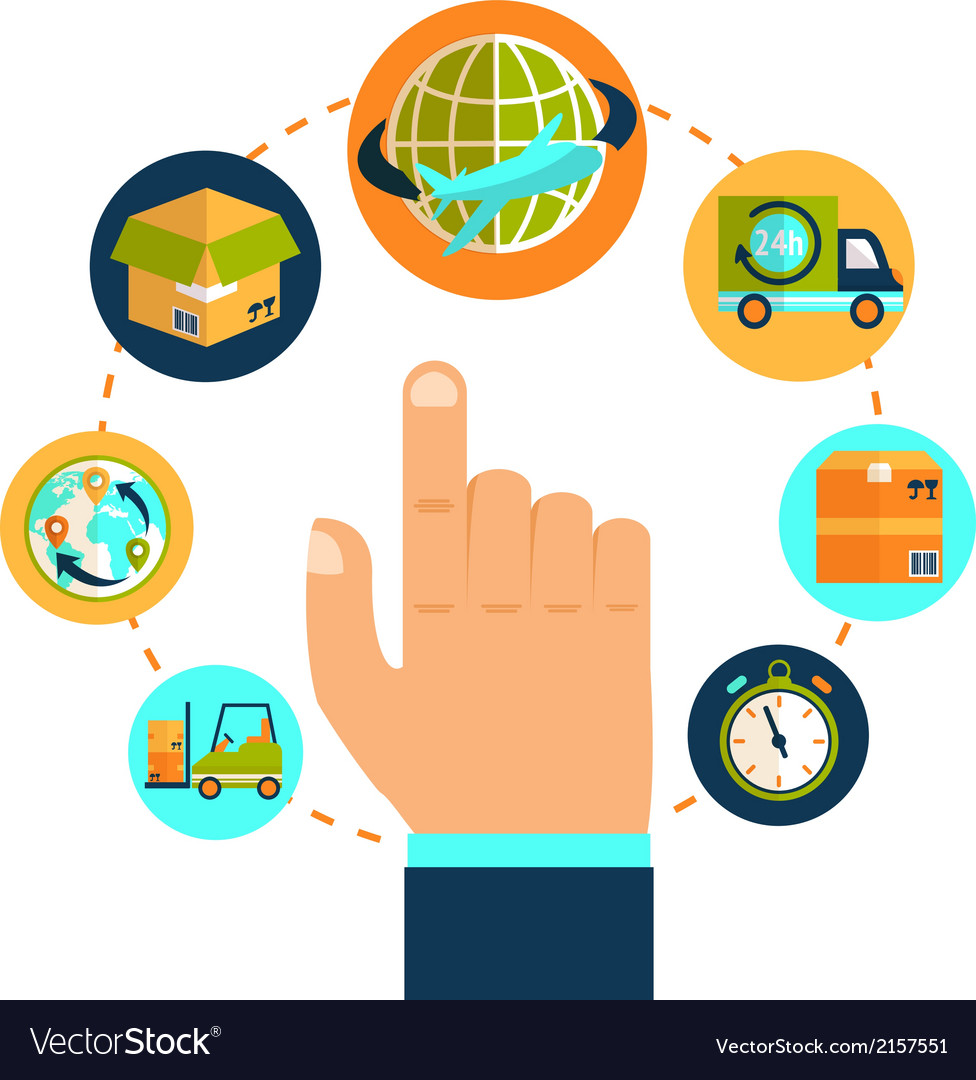 Logistic hand concept vector   Price: 1 Credit (USD $1)