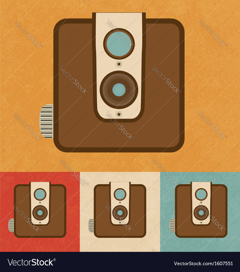 Retro camera icon vector | Price: 1 Credit (USD $1)