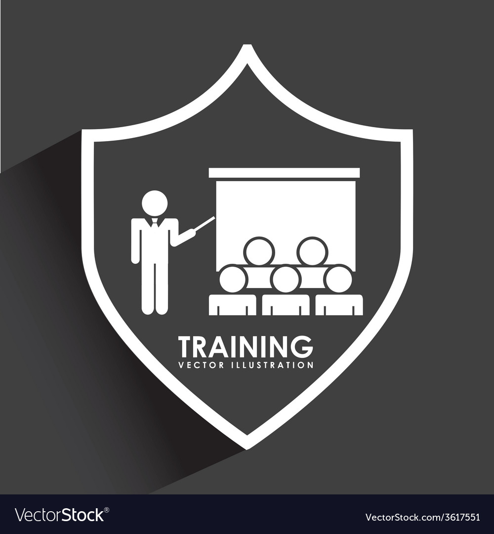 Training icon vector