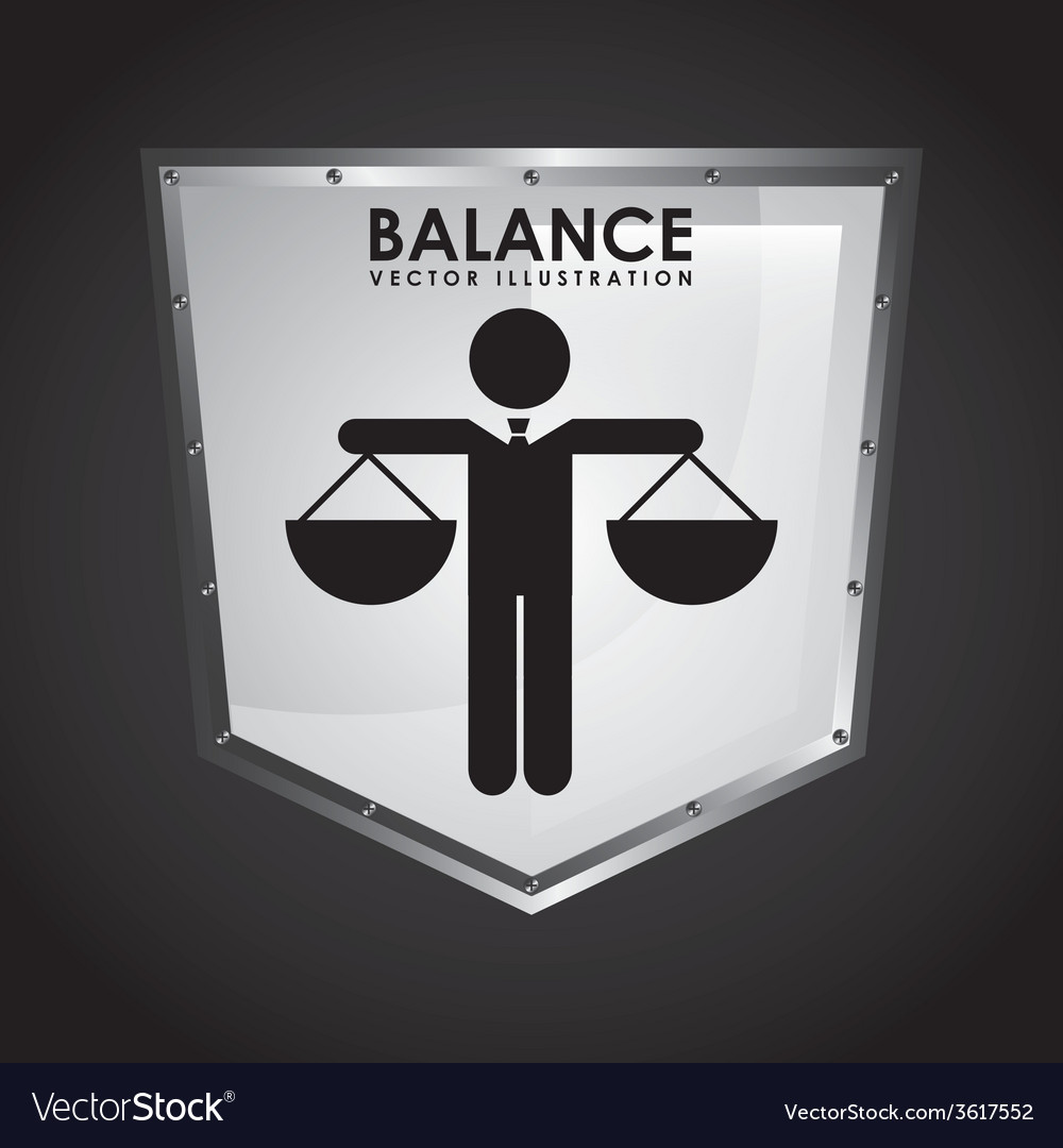 Balance icon design vector