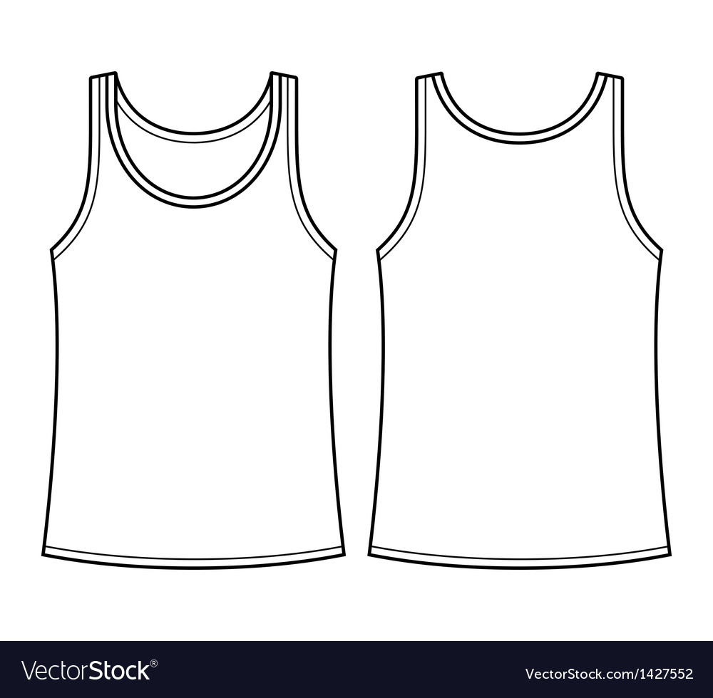 Blank singlet template vector | Price: 1 Credit (USD $1)
