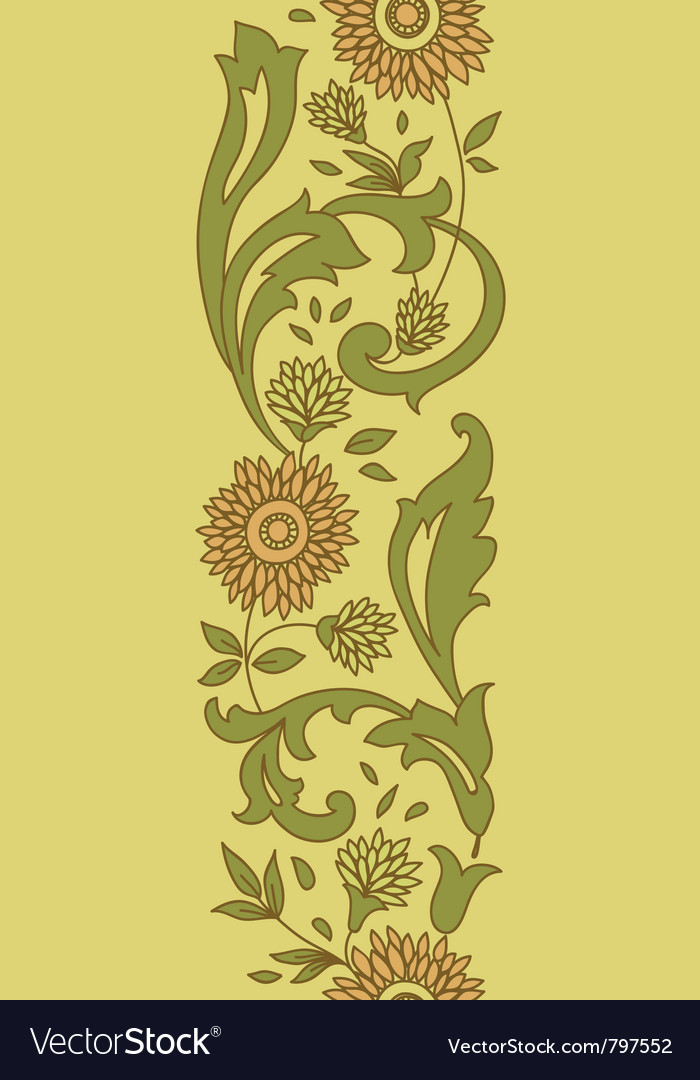 Bright floral seamless pattern vector | Price: 1 Credit (USD $1)