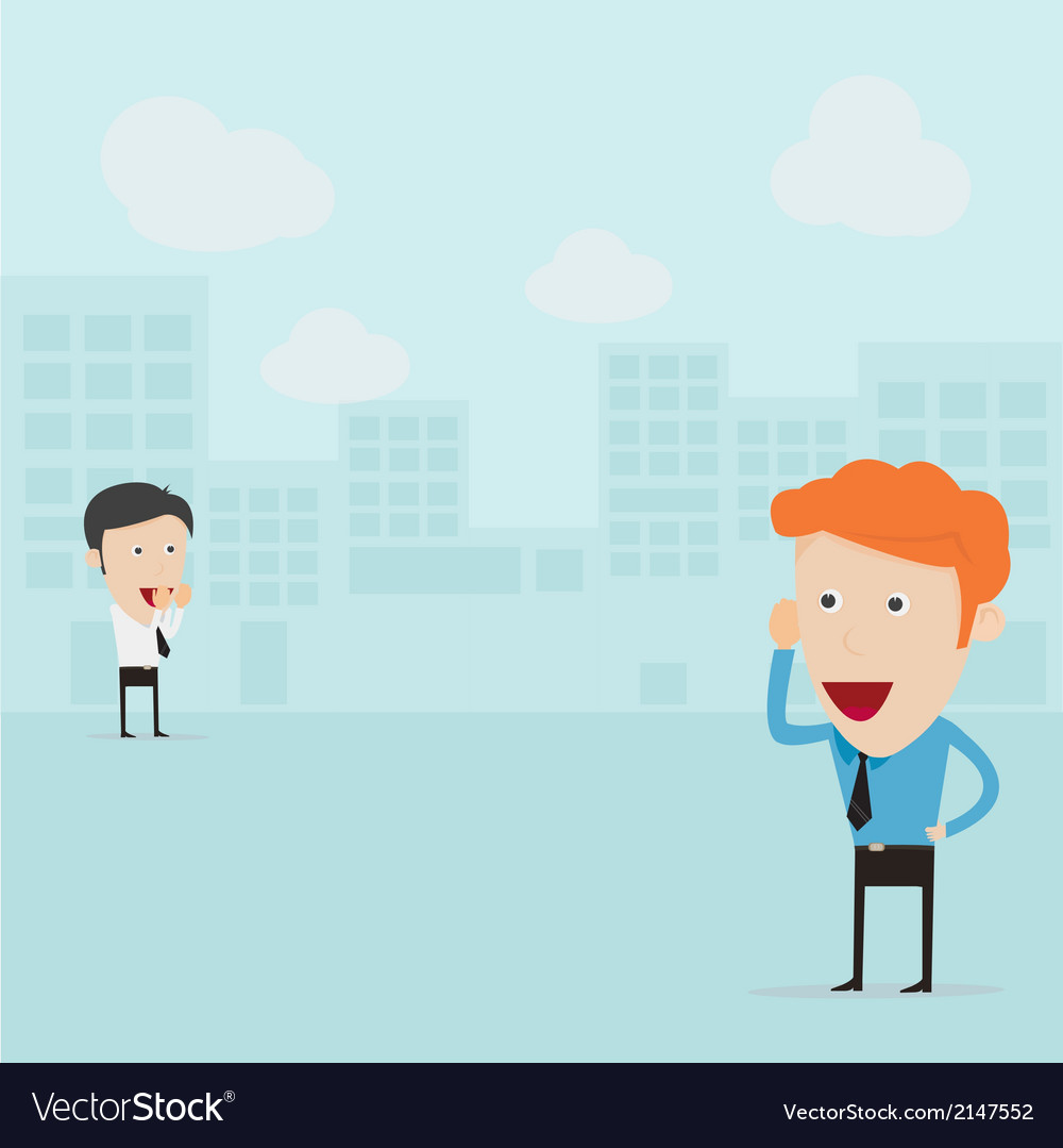 Businessmen communicating from distance vector | Price: 1 Credit (USD $1)