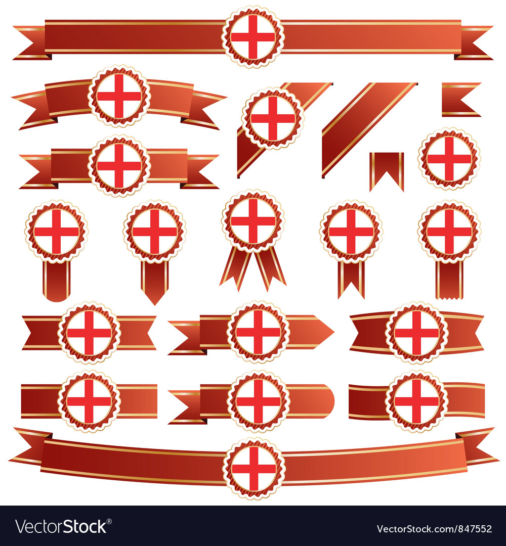 England ribbons vector | Price: 3 Credit (USD $3)