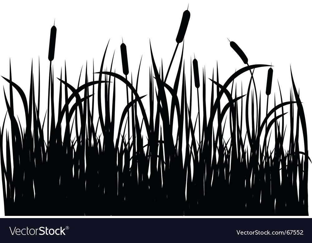 Grass silhouette vector | Price: 1 Credit (USD $1)