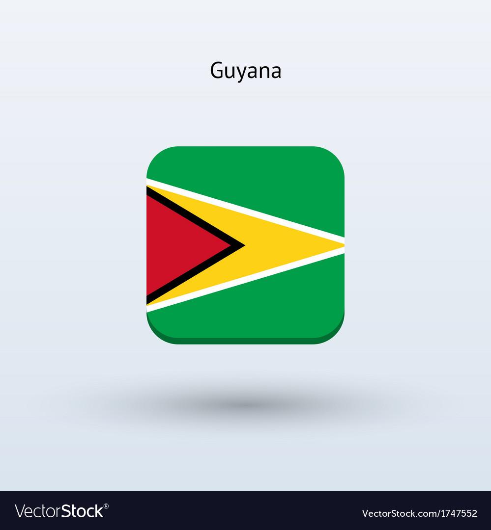 Guyana flag icon vector | Price: 1 Credit (USD $1)