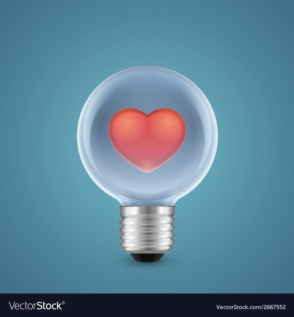 Lamp of love vector   Price: 1 Credit (USD $1)