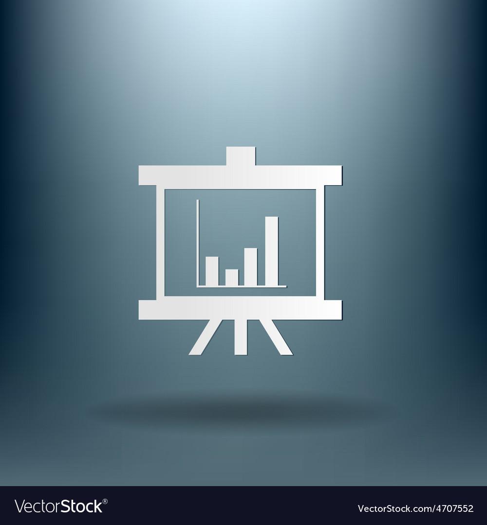 Presentation graphics business icon vector | Price: 1 Credit (USD $1)