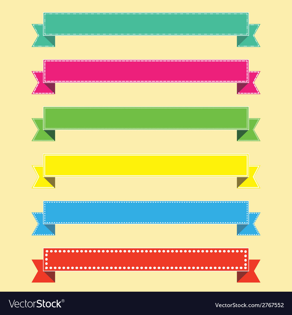 Set of ribbons for infographics vector | Price: 1 Credit (USD $1)