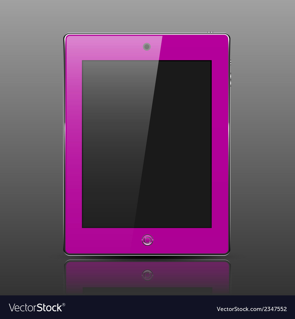 Tablet computer pink color vector | Price: 1 Credit (USD $1)