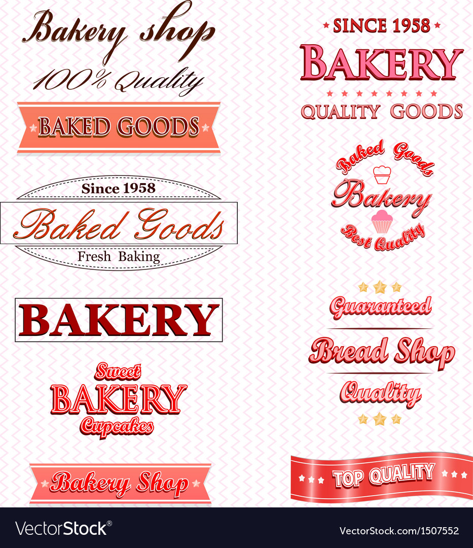 Vintage retro bakery badges and labels vector | Price: 1 Credit (USD $1)