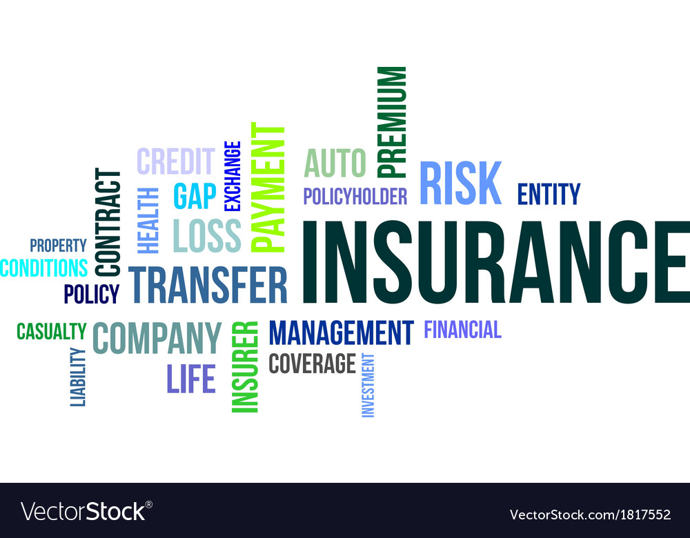 Word cloud insurance vector | Price: 1 Credit (USD $1)