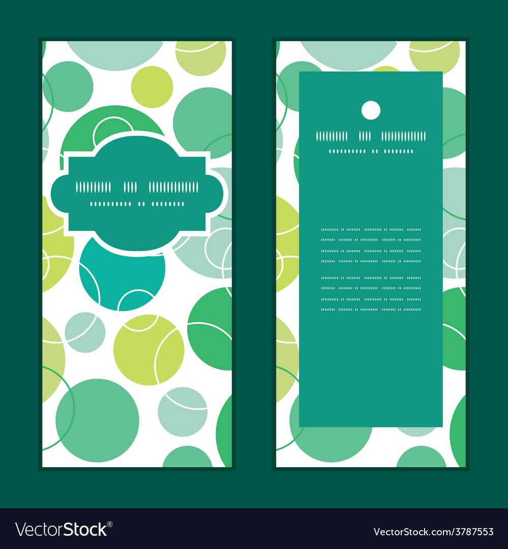 Abstract green circles vertical frame vector | Price: 1 Credit (USD $1)