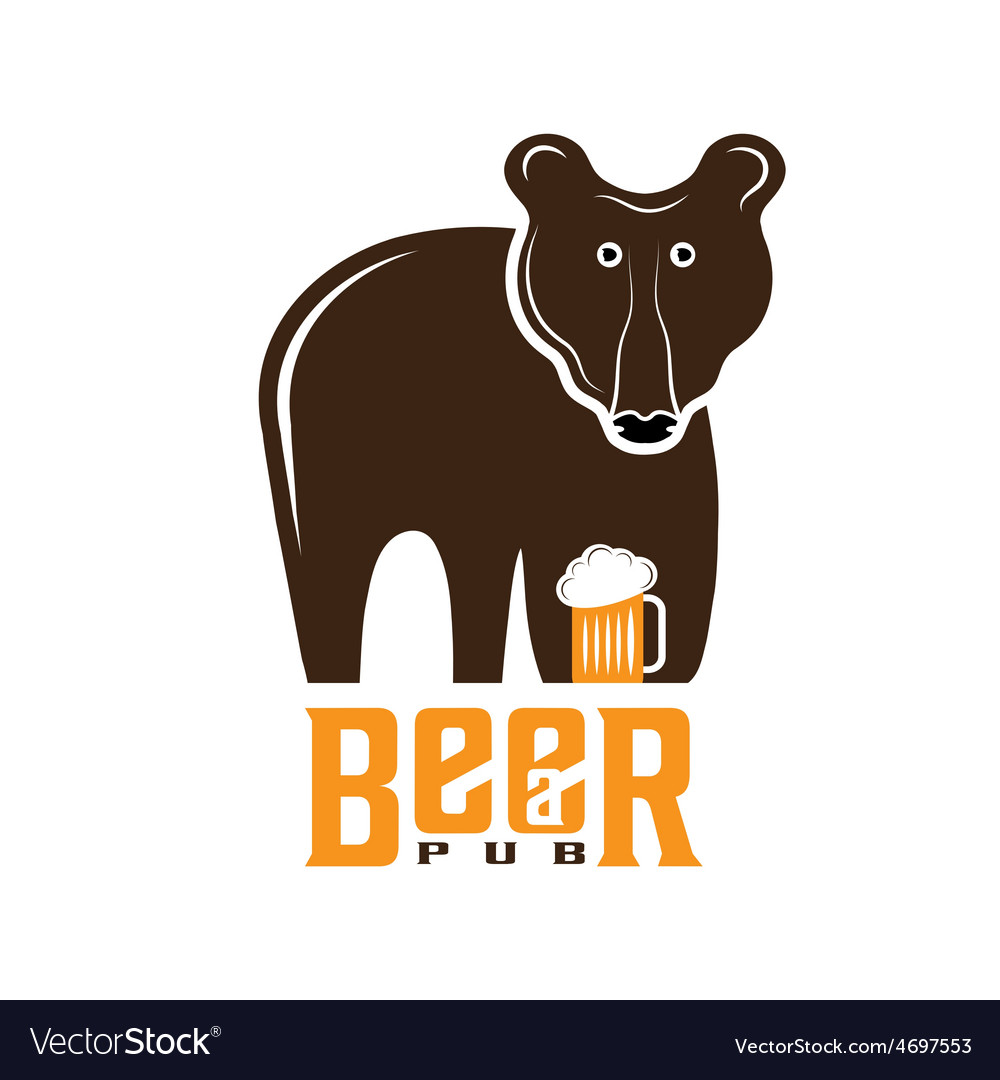 Bear beer concept design template vector | Price: 1 Credit (USD $1)