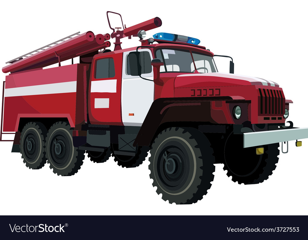 Fire engine vehicle vector | Price: 3 Credit (USD $3)