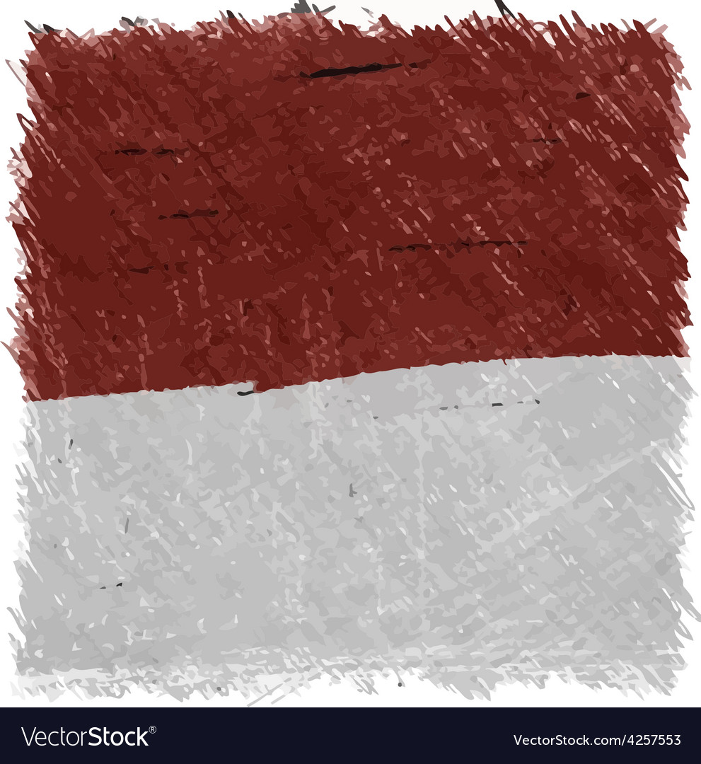 Flag of monaco handmade square shape vector | Price: 1 Credit (USD $1)
