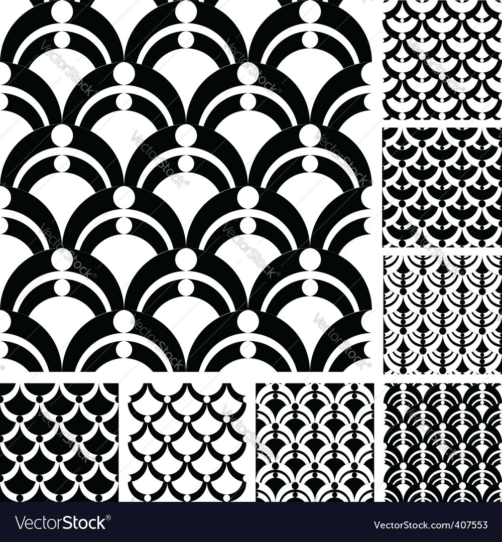 Graphic patterns set vector | Price: 1 Credit (USD $1)