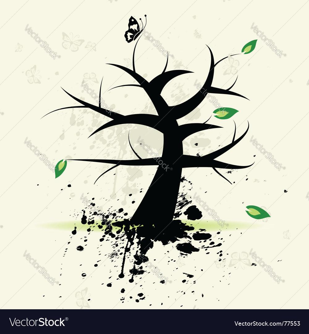 Grunge tree vector | Price: 1 Credit (USD $1)