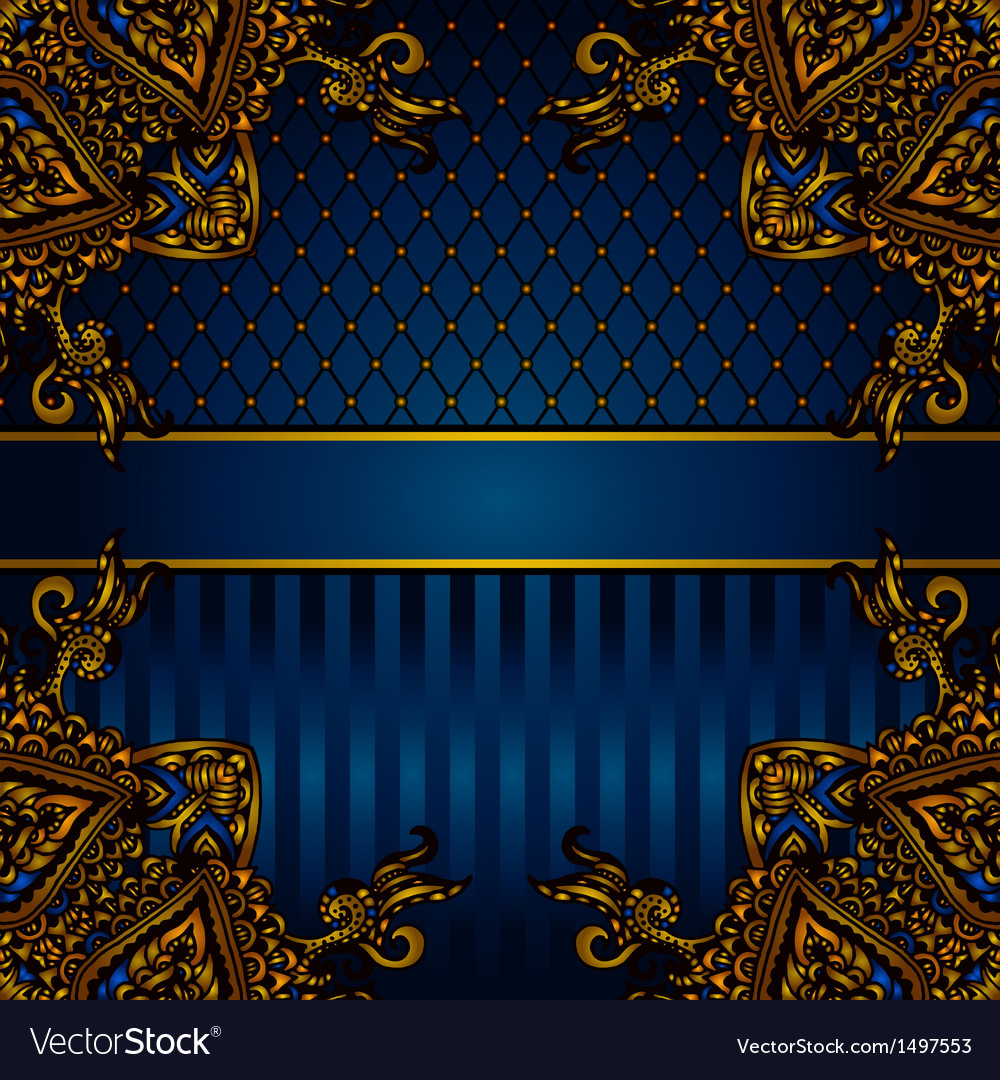 Luxury banner border vector | Price: 1 Credit (USD $1)