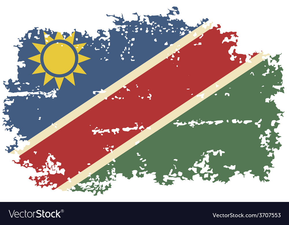 Namibia grunge flag vector | Price: 1 Credit (USD $1)