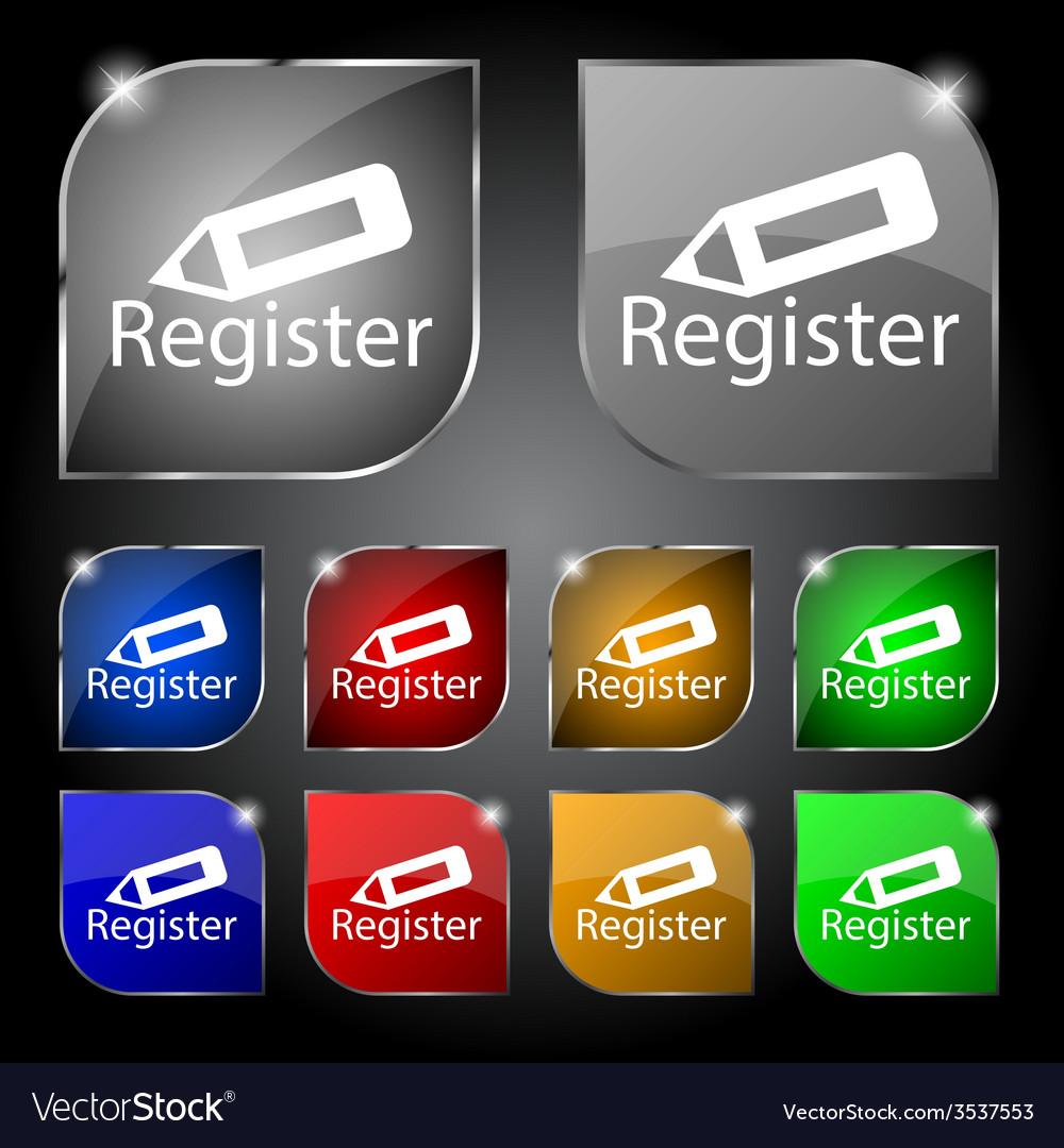 Register sign icon membership symbol website vector   Price: 1 Credit (USD $1)