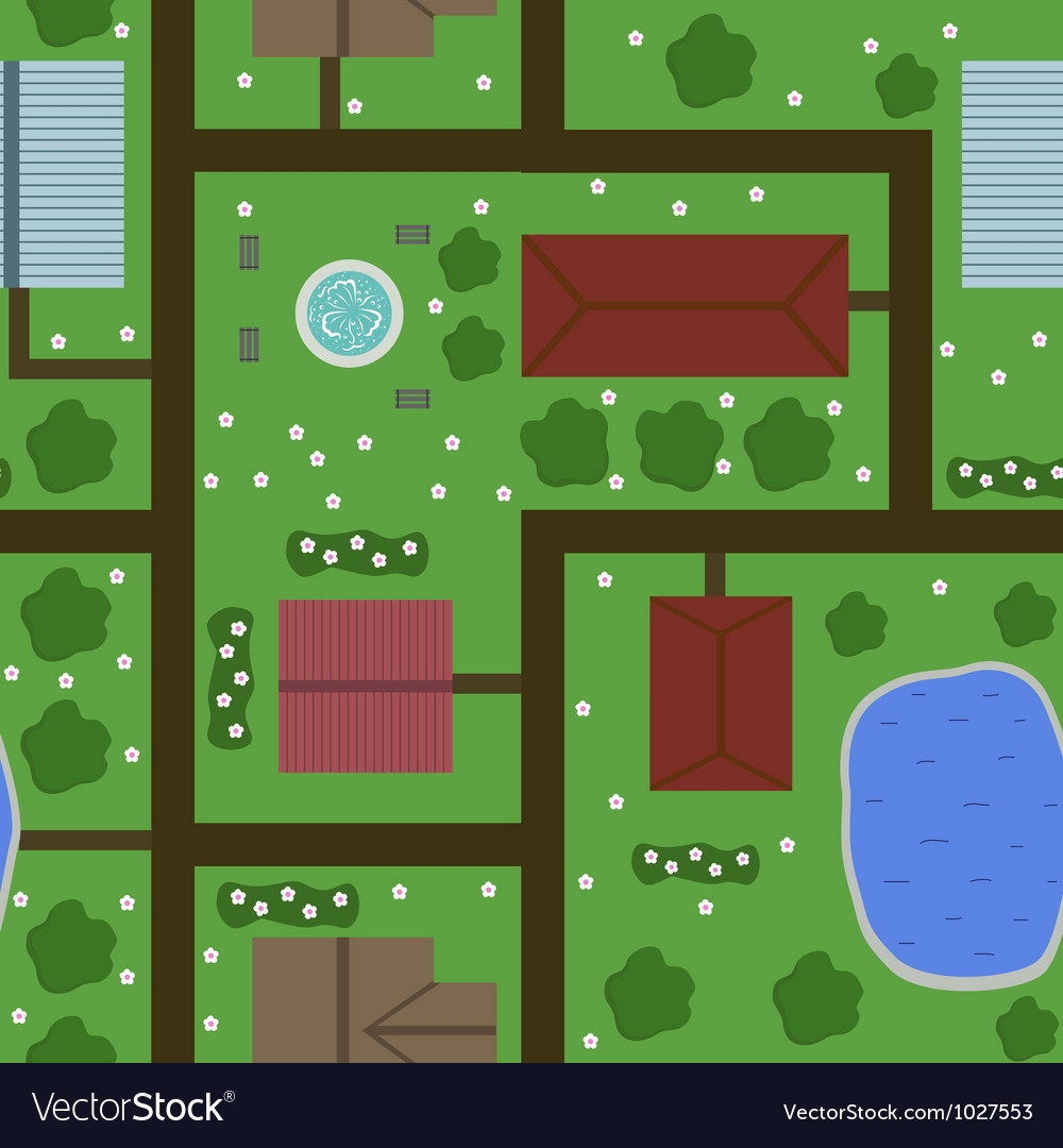Seamless plan of town vector | Price: 1 Credit (USD $1)