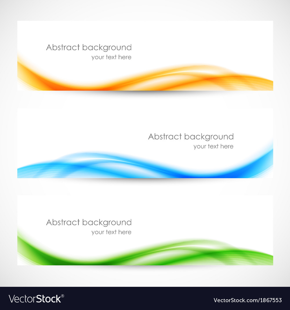 Set of colorful softness banners vector | Price: 1 Credit (USD $1)