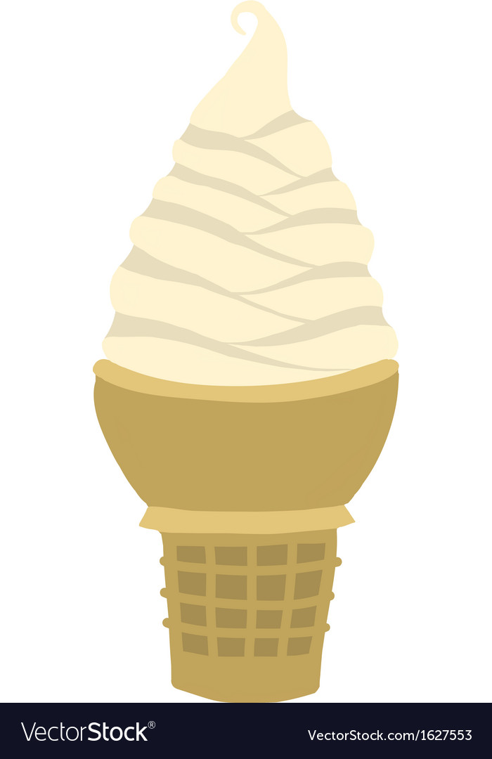 Vanilla soft serve ice cream cone vector | Price: 1 Credit (USD $1)