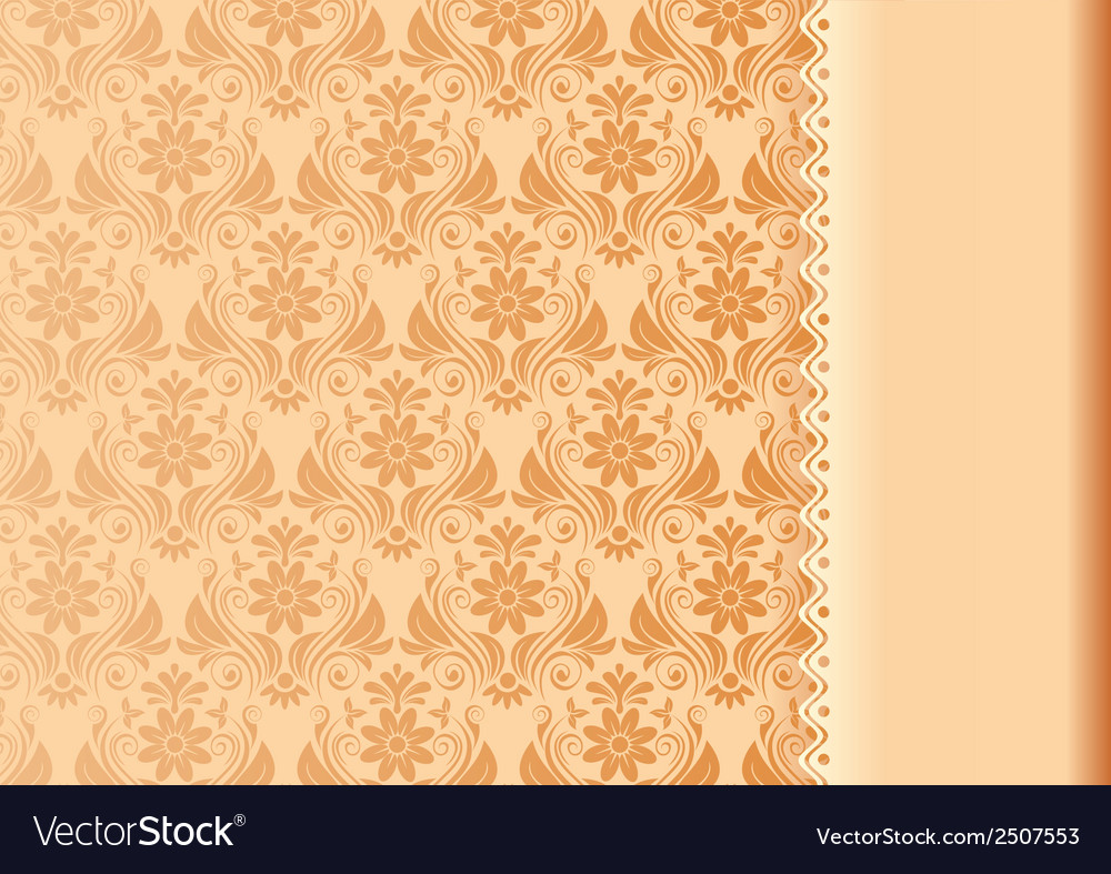 Vintage background antique floral luxury vector | Price: 1 Credit (USD $1)