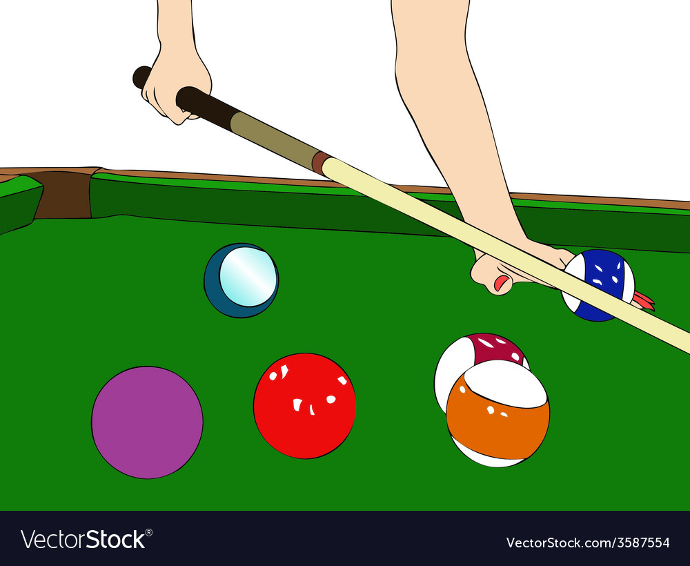 A game of billiards vector | Price: 1 Credit (USD $1)