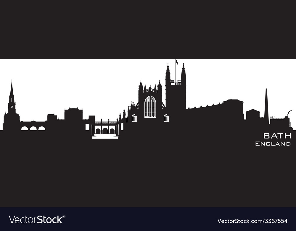 Bath england skyline detailed silhouette vector | Price: 1 Credit (USD $1)