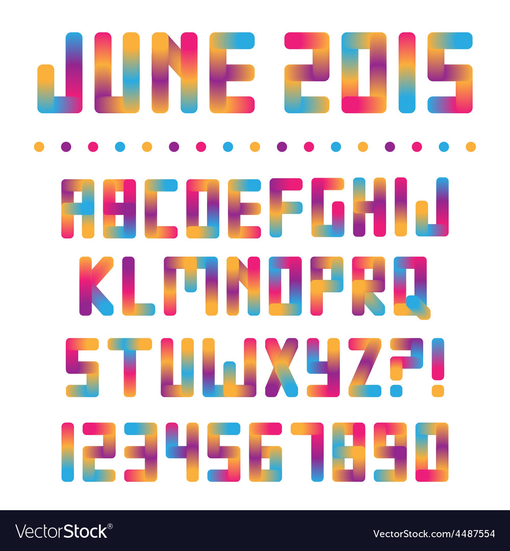 Colorful bright font vector | Price: 1 Credit (USD $1)