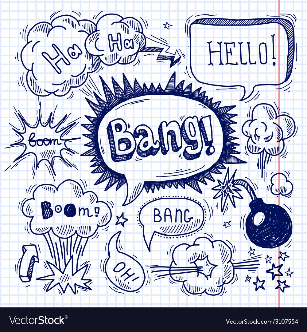 Comic text bubble blank vector | Price: 1 Credit (USD $1)