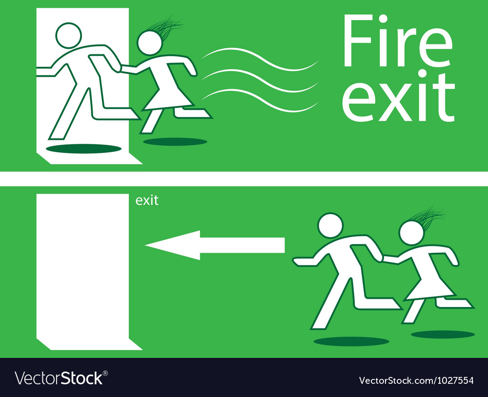 Emergency fire exit vector | Price: 1 Credit (USD $1)