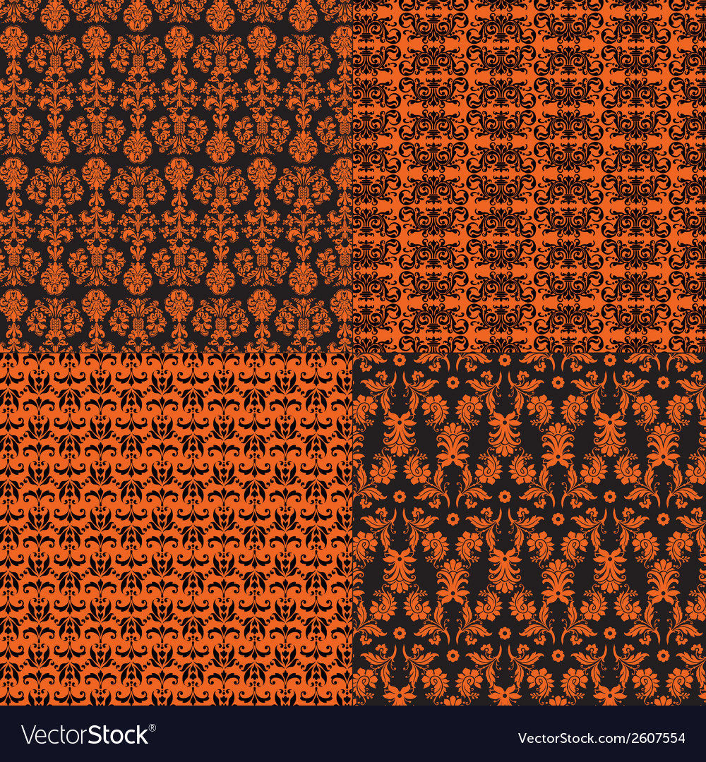 Halloween damask vector | Price: 1 Credit (USD $1)