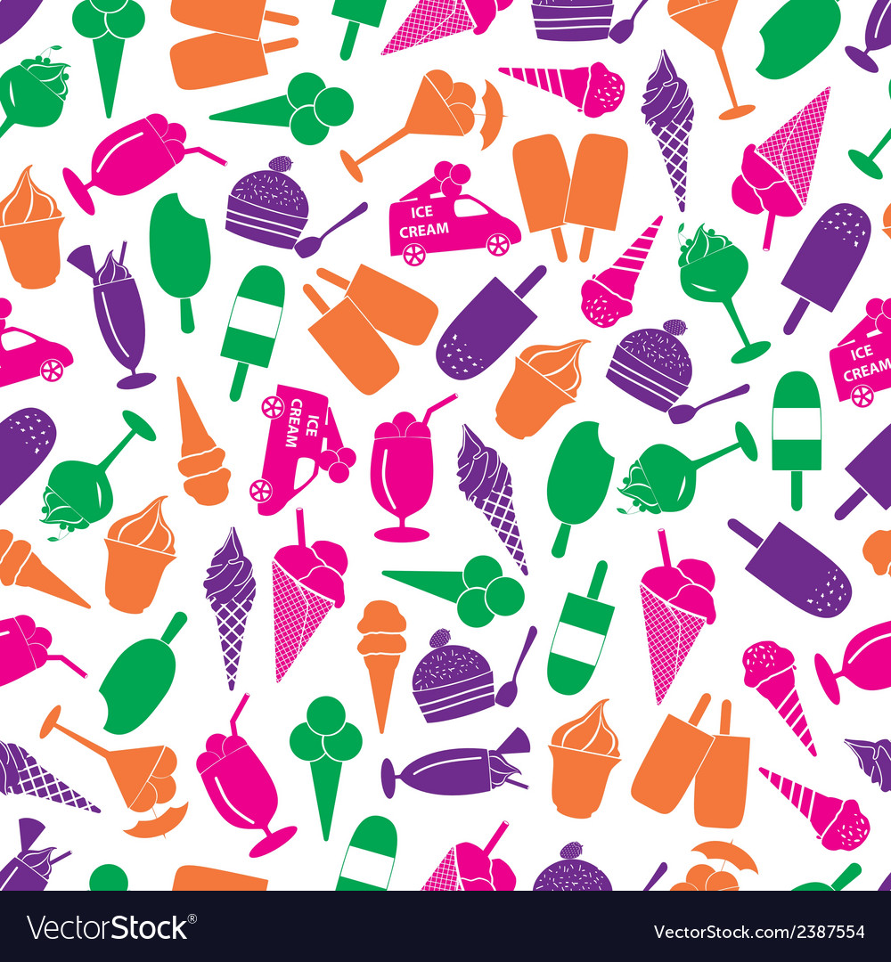 Ice cream colorful seamless pattern eps10 vector | Price: 1 Credit (USD $1)