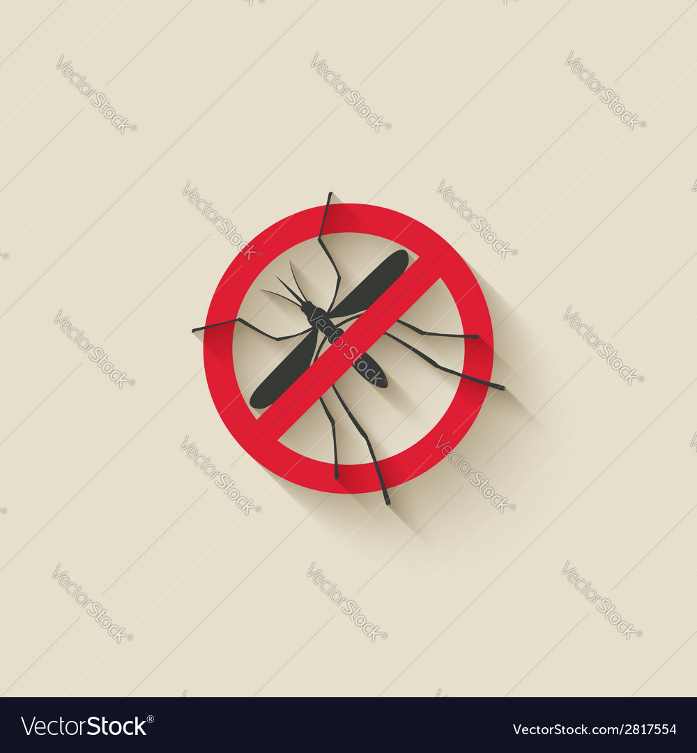 Mosquito warning sign vector | Price: 1 Credit (USD $1)