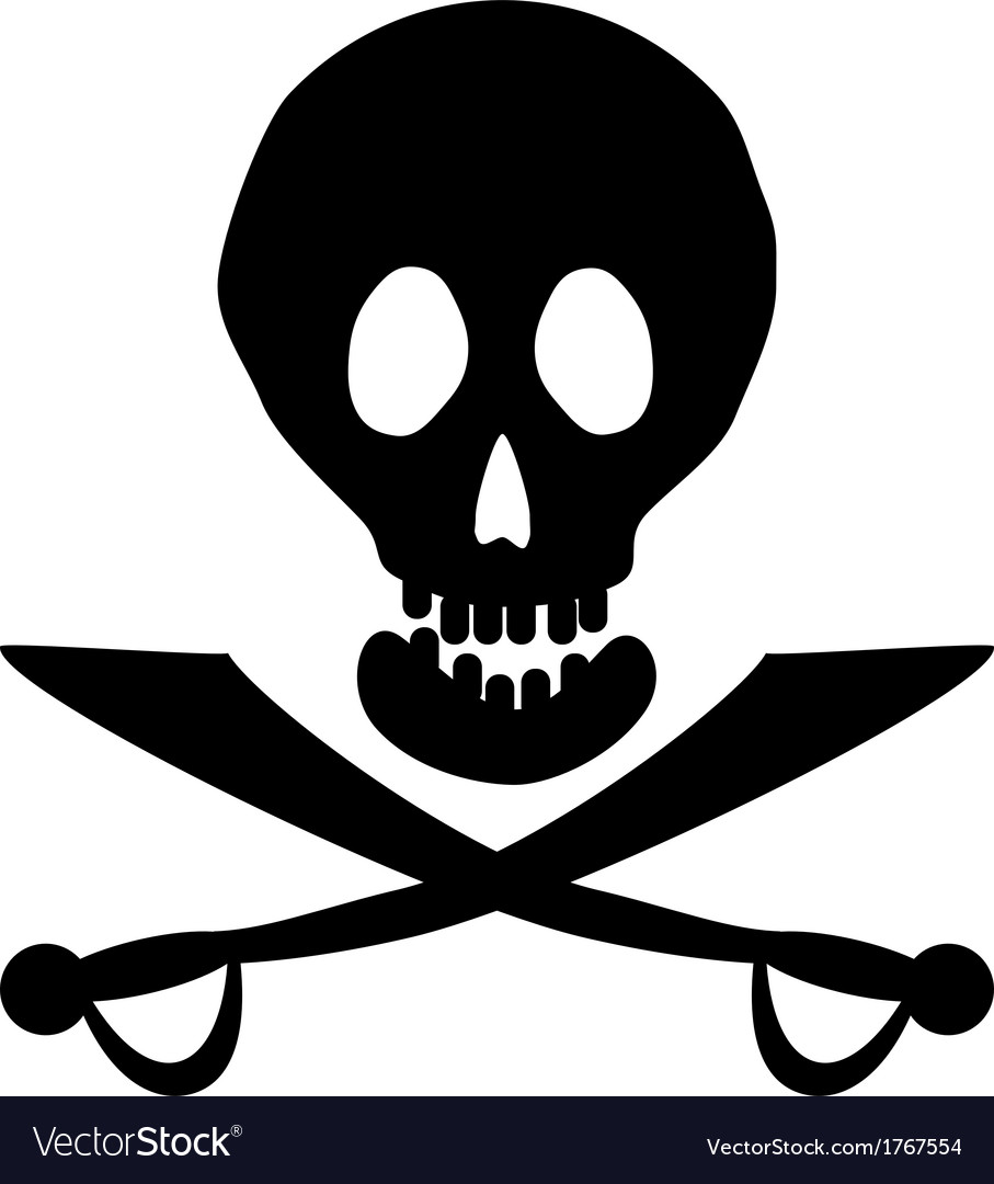 Piracy icon vector | Price: 1 Credit (USD $1)
