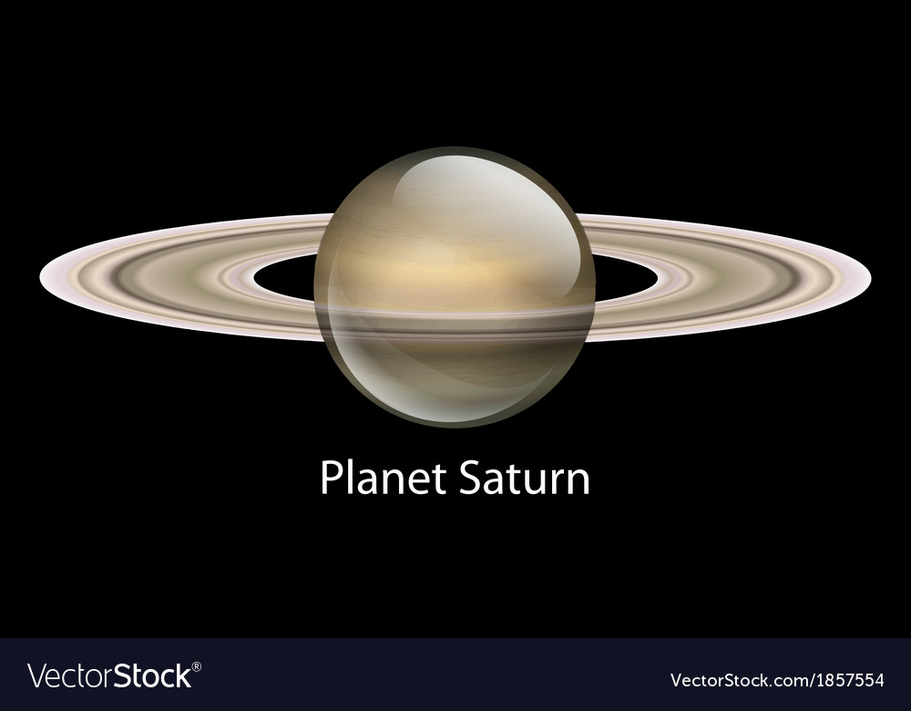 Planet saturn vector | Price: 1 Credit (USD $1)