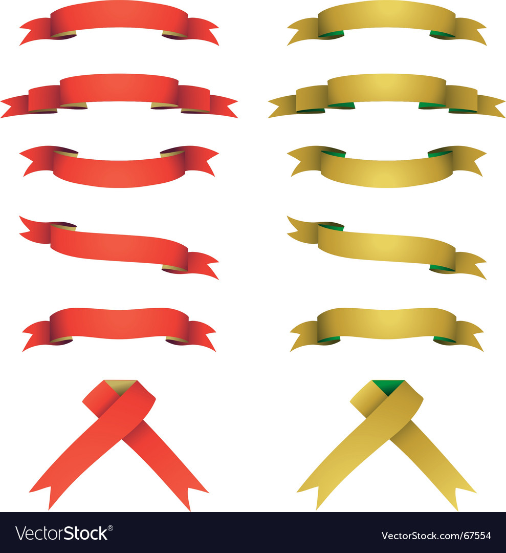 Red and yellow banners set vector | Price: 1 Credit (USD $1)