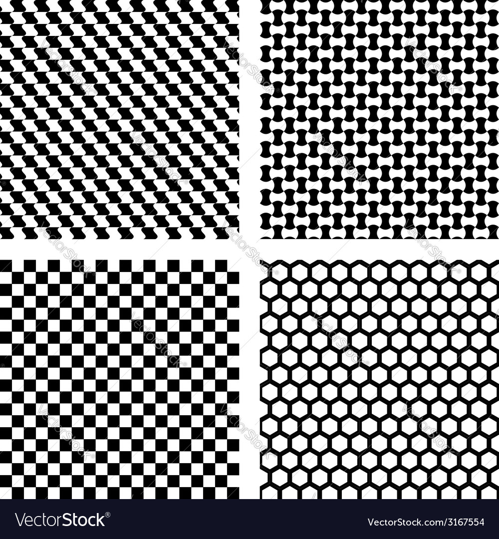 Set of black geometric patterns vector | Price: 1 Credit (USD $1)