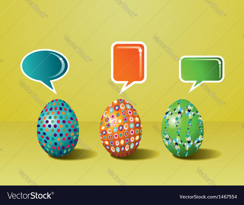 Social media easter interaction vector | Price: 1 Credit (USD $1)
