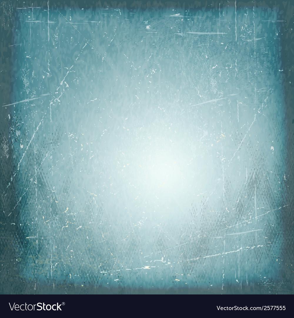 Blue scratched vintage vignette background vector | Price: 1 Credit (USD $1)