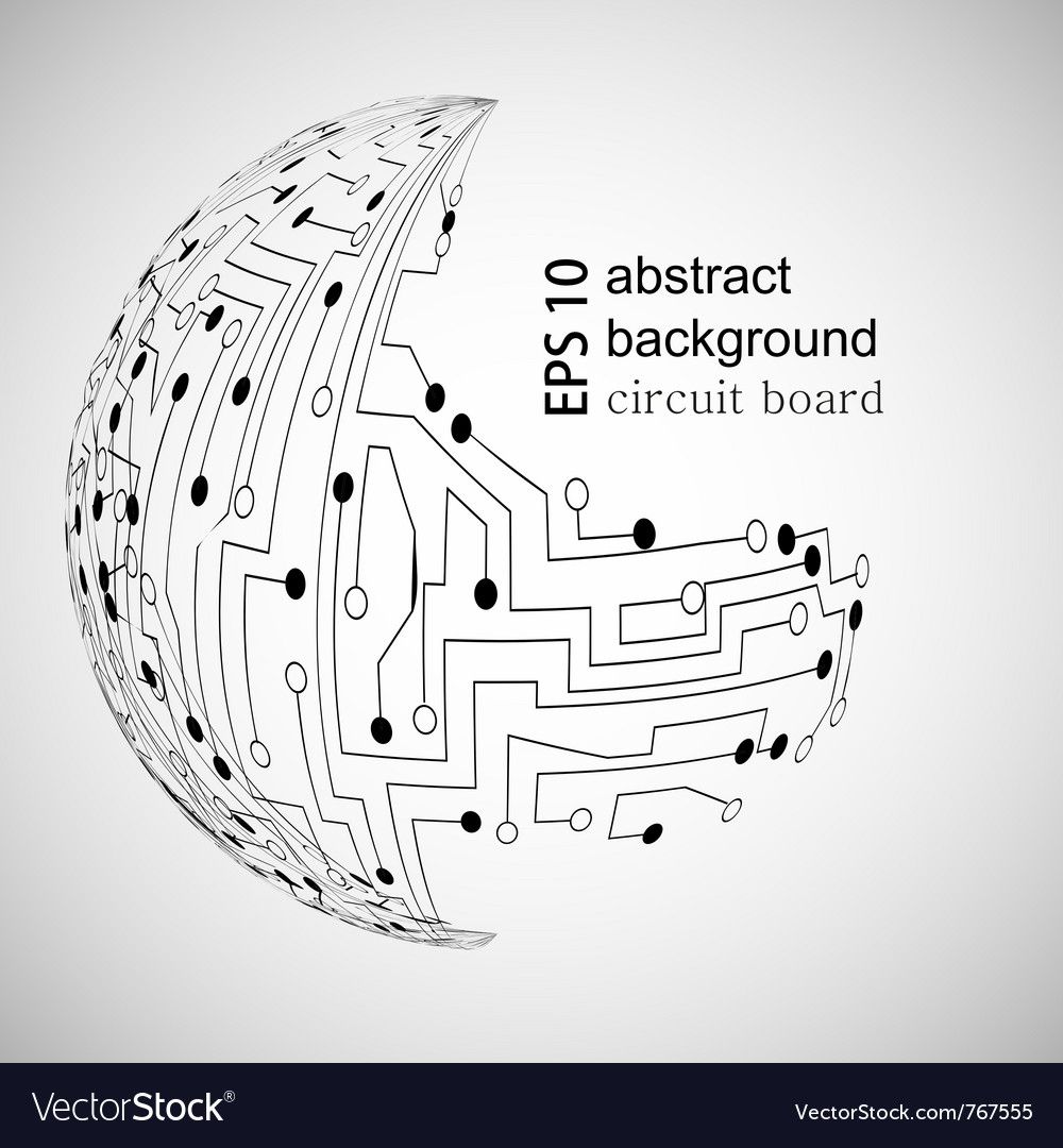 Circuit board world vector
