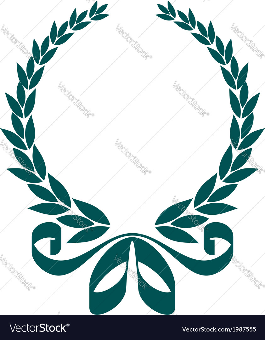 Foliate laurel wreath with a decorative ribbon vector | Price: 1 Credit (USD $1)