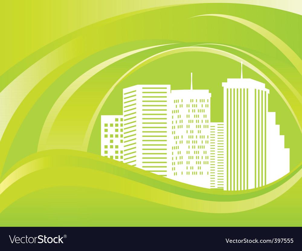 Green city vector   Price: 1 Credit (USD $1)