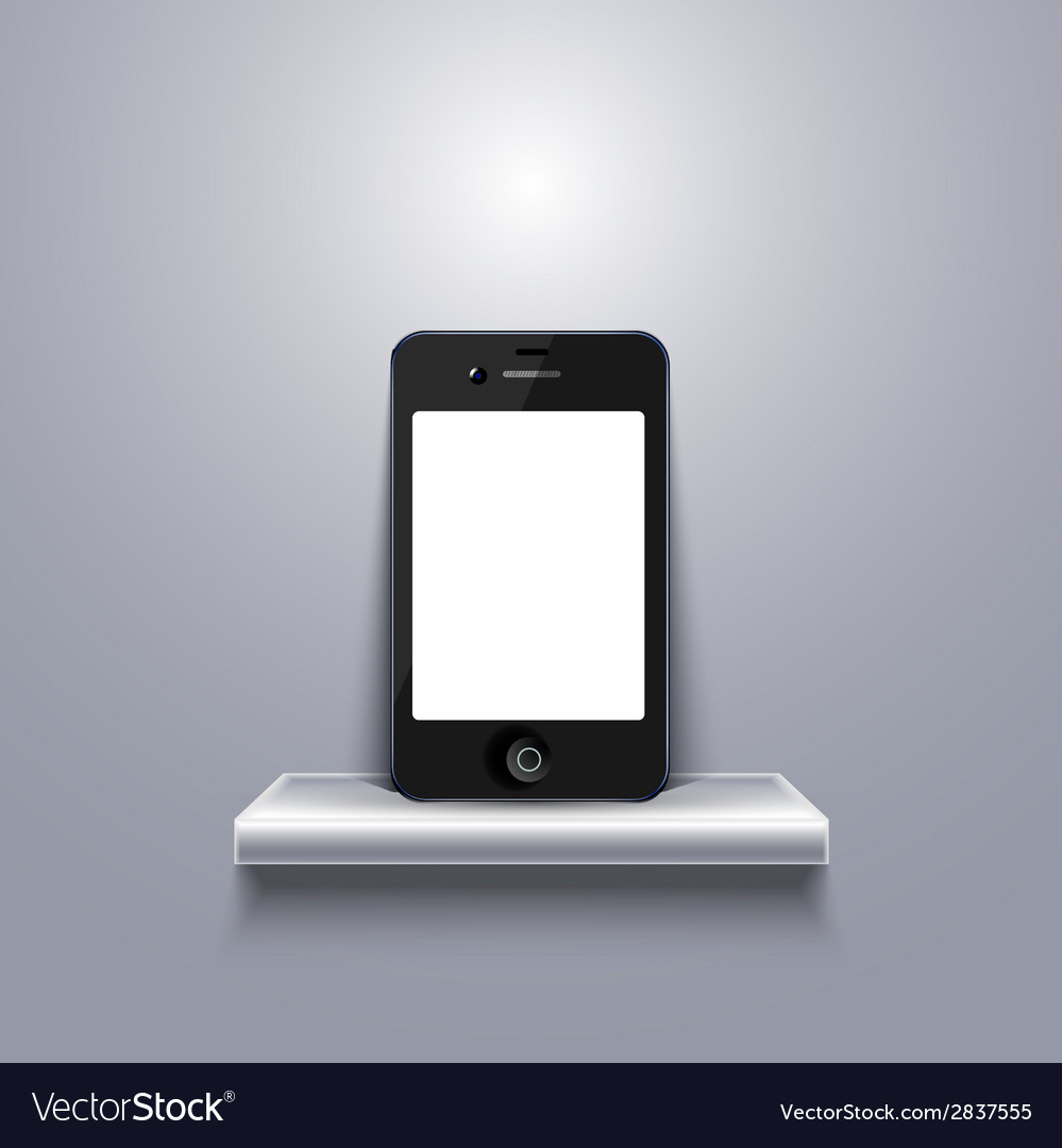 Modern smartphone on shelf vector | Price: 1 Credit (USD $1)