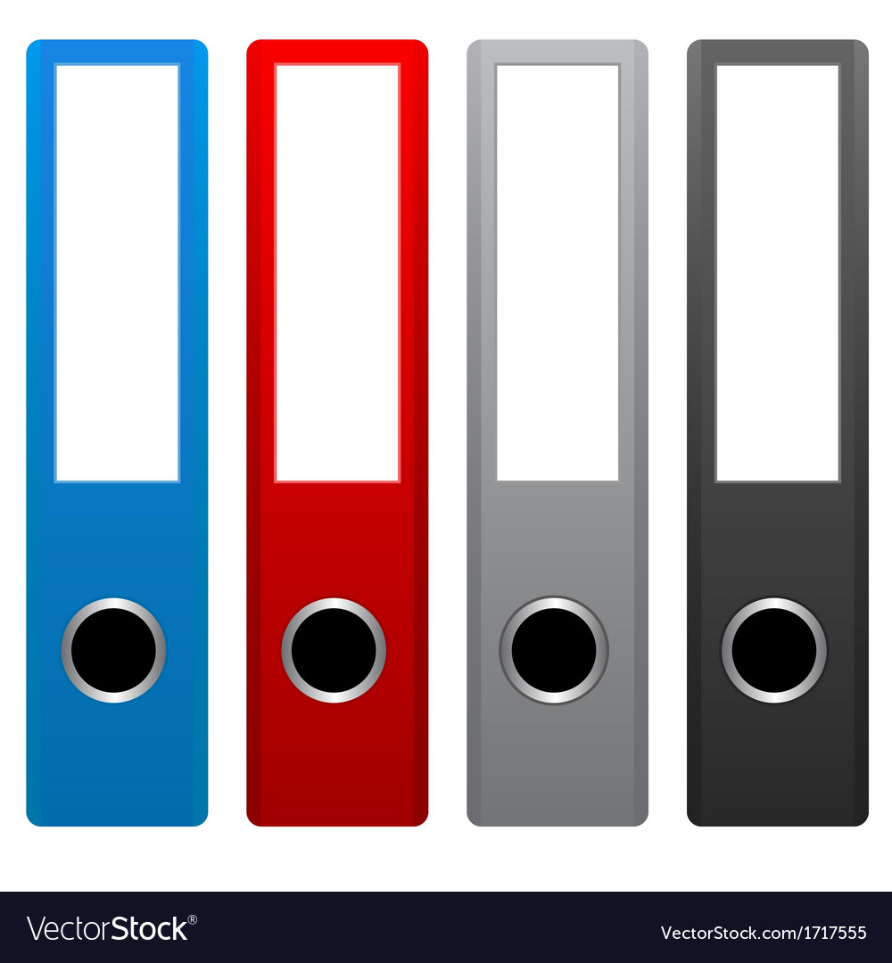 Office folders vector | Price: 1 Credit (USD $1)